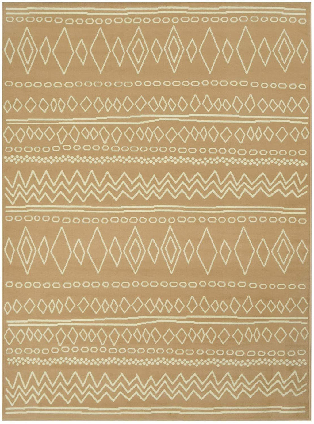 Southwestern Rug for Living Room Antiqued Trellis Camel and White Area Rug Boho Décor Rugs for Bedroom