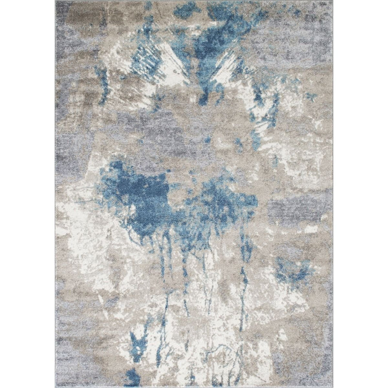 Silver/Ash Gray/Ivory/Ocean Blue-Faded, Distressed