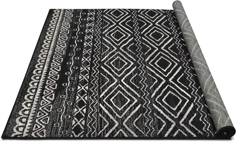 Southwestern Rug for Living Room Antiqued Trellis Black and White Area Rug Boho D????cor Rugs for Bedroom
