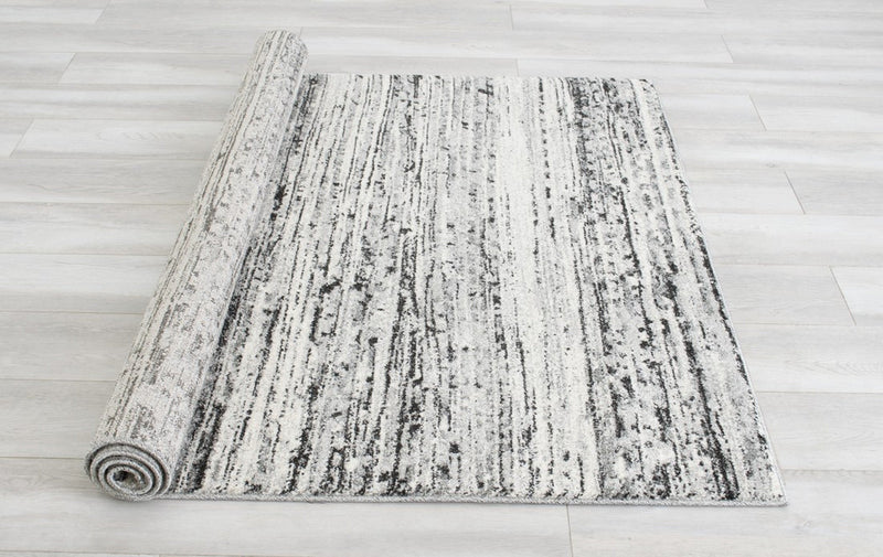 Brush/Stripped Pattern Fashion Rug (7x10 feet)