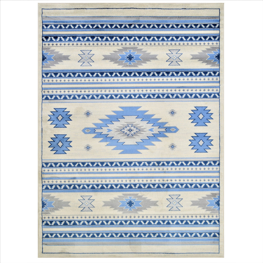 Southwestern Rugs/Luxury Living room  Soft/Smooth-Blue/Silver/Gray/White