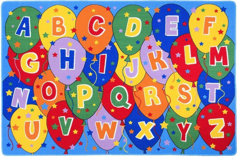 Teaching ABC Balloons Party accent Kids Educational play mat Non-Slip