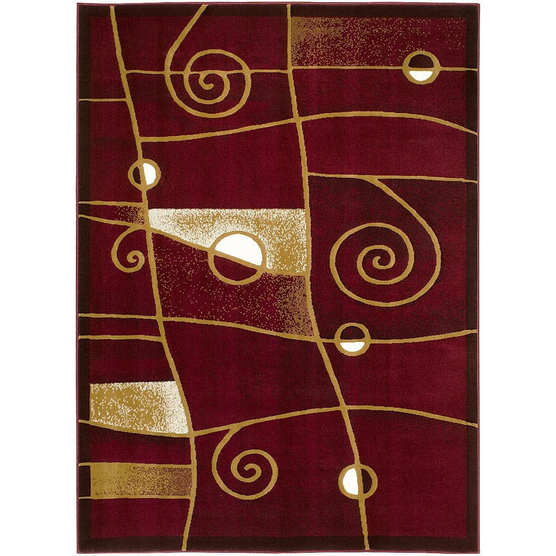 Swirls  Shed Free Burgundy Red/Beige/Ivory/Black