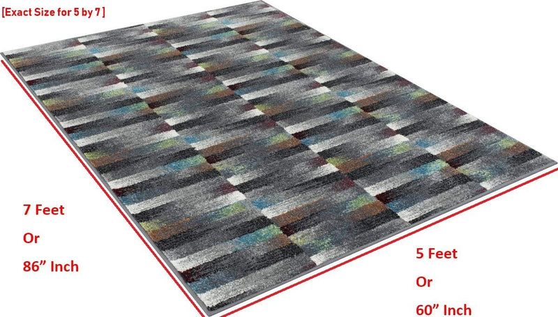 Faded Blocks Design Area Rugs Geometric