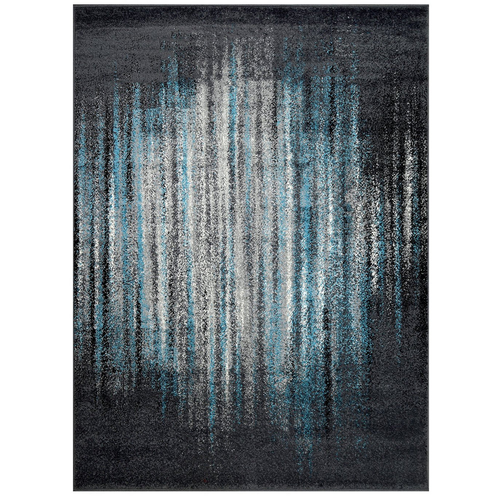 HR Marble Pattern Area Rugs Distressed Modern Abstract Design Blue Gray Multicolor (5' x 7')