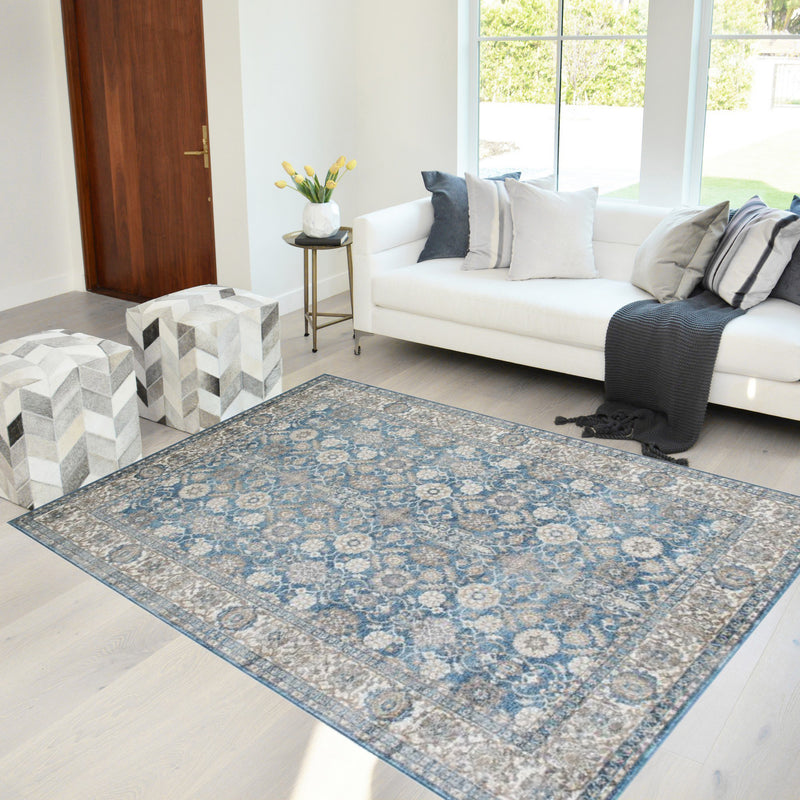Square Pattern Area Rug 5x7 Box Pattern Modern Turquoise & Gray Carpet Comfy shed Free Stain Resistant