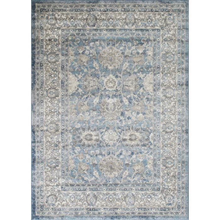 Cream/Gray/Ivory/Beige-Faded, Oriental Distressed – Modern Vintage Design– Abstract, Persian Rug