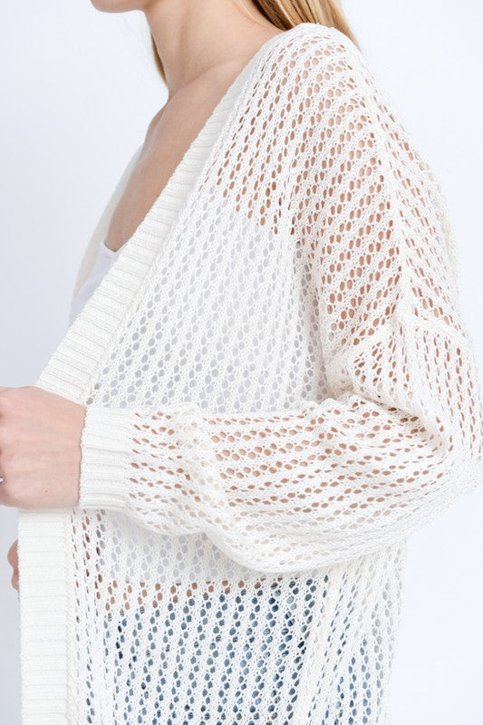Summer Party Loose Knit Cardi