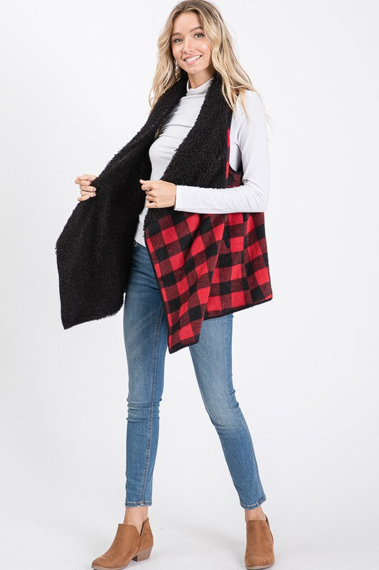 Reversible Buffalo Plaid Vest