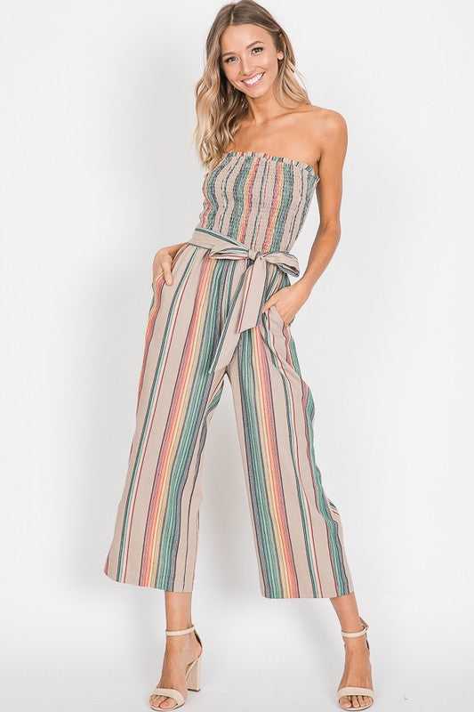 Demi Striped Jumpsuit