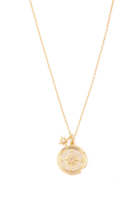 Due North Compass Pendant Necklace