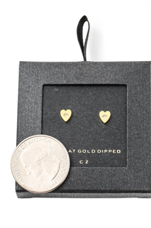 Secret Box North Star Heart Stud Earrings