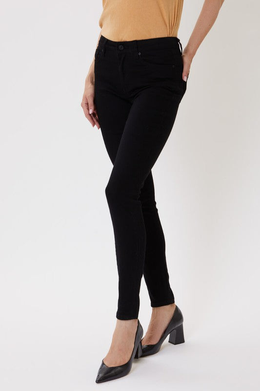 Kan Can Black High Rise Skinny Jeans