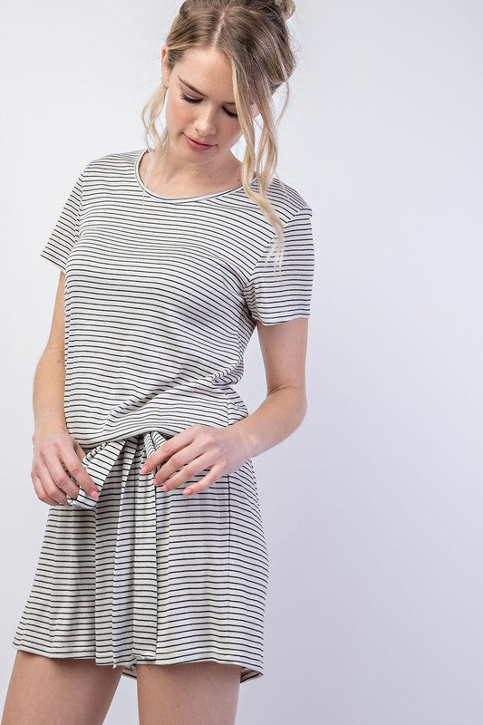 Asher Short Sleeve Striped Jumper