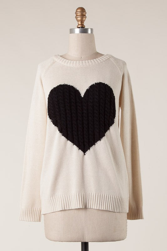Dear To My Heart Cable Knit Sweater