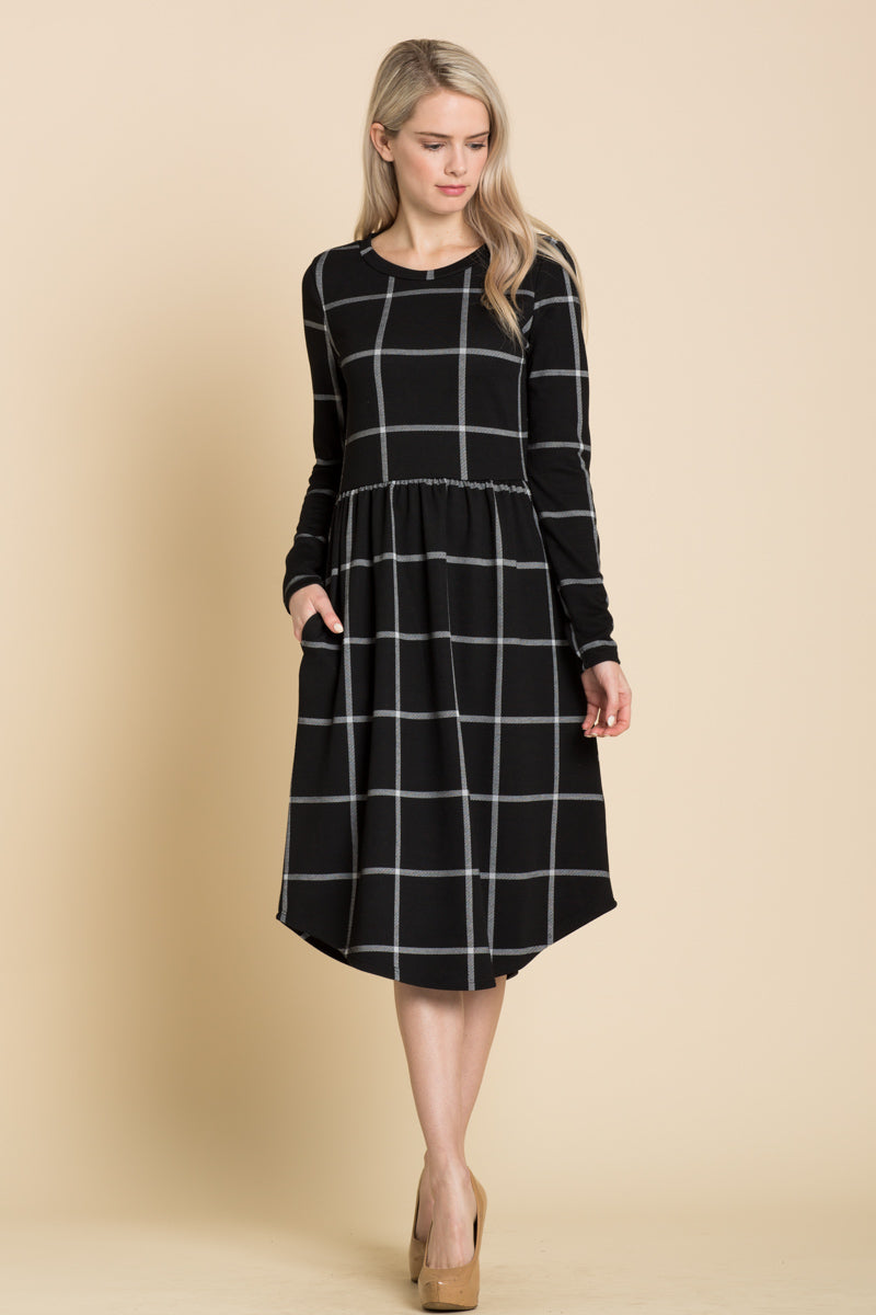 Kimber Checkered Midi Dress