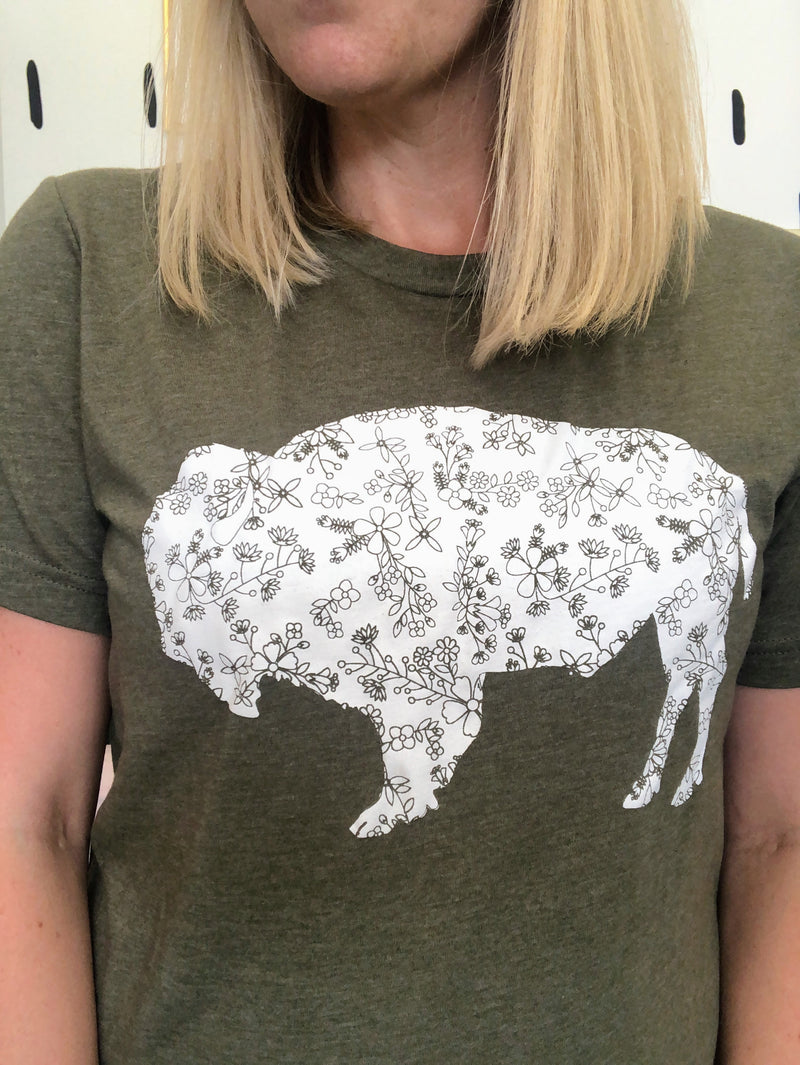 Bison Floral Graphic Tee