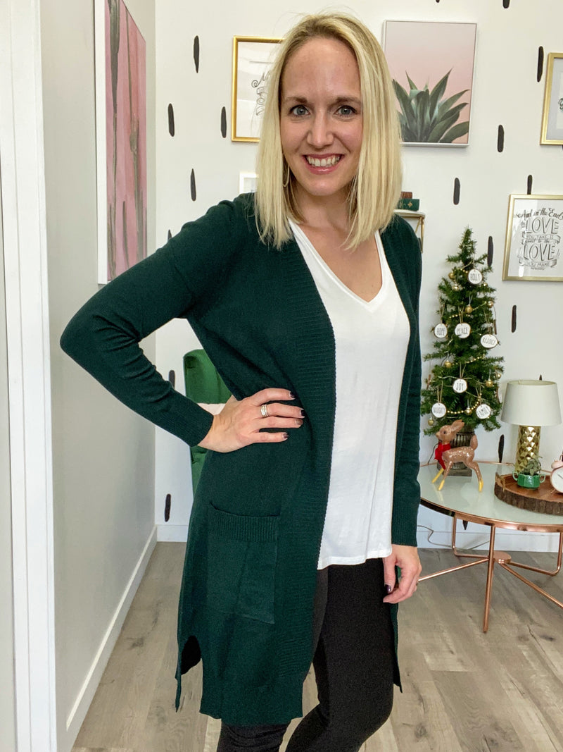 Sweater Cardi With Pockets