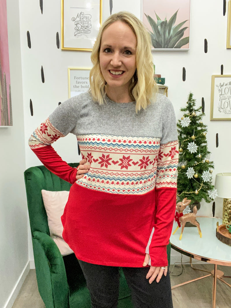 Snowflake Colorblock Tunic