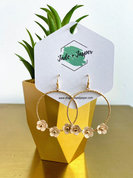 Addy Floral Hoops