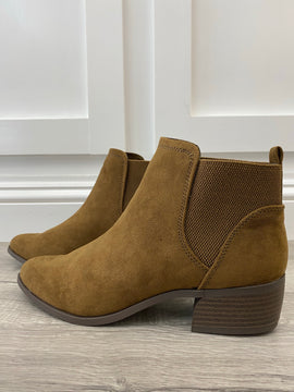 Coffee Suede Bootie