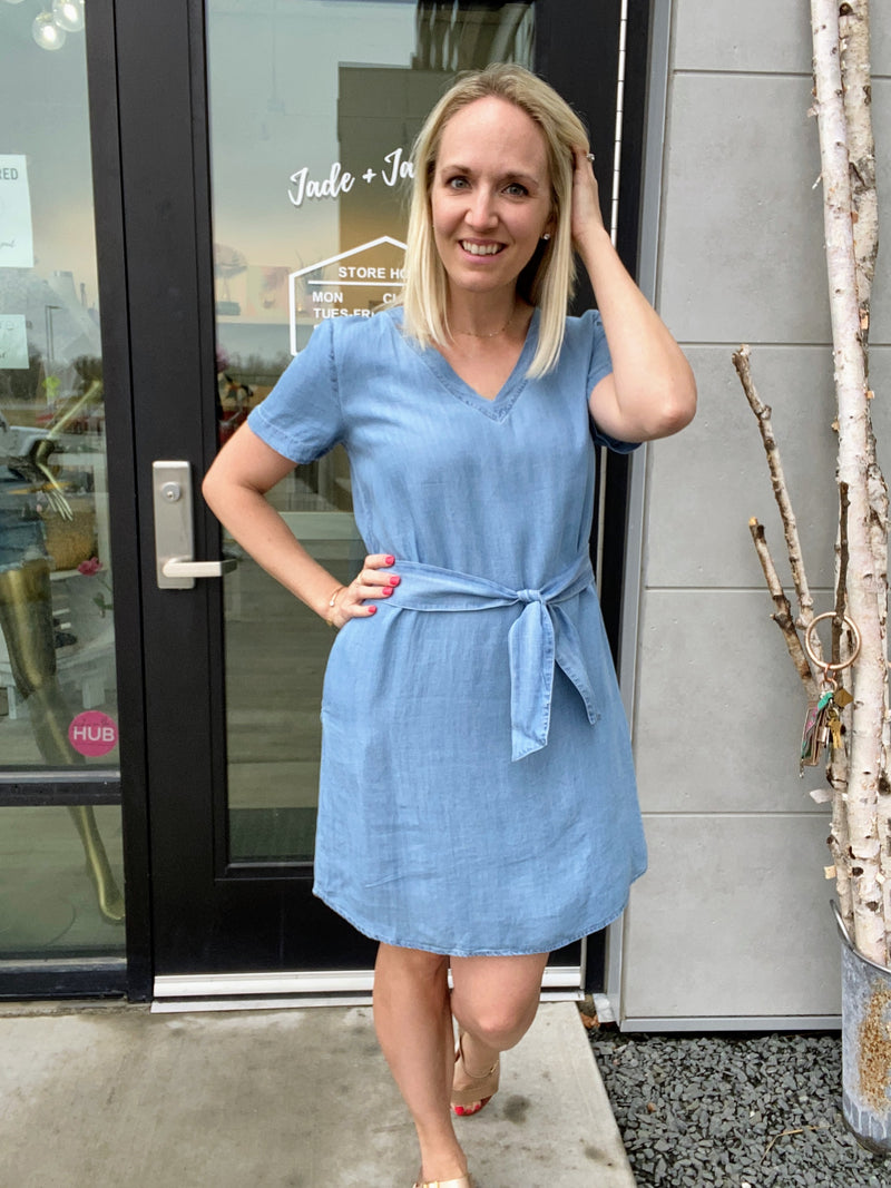 Cambria Chambray Mini Dress