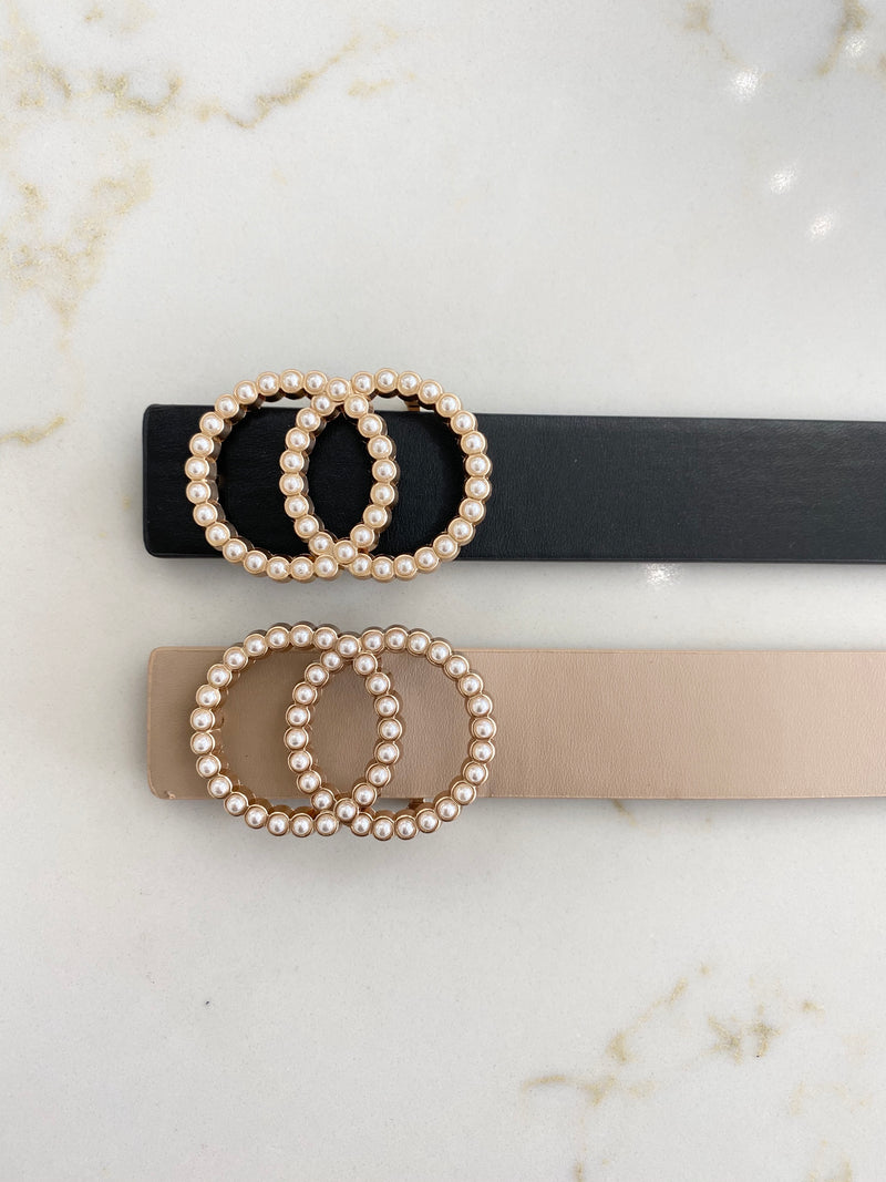 Beaded Double Ring Belt