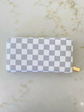 Luxe Checkered Wallet