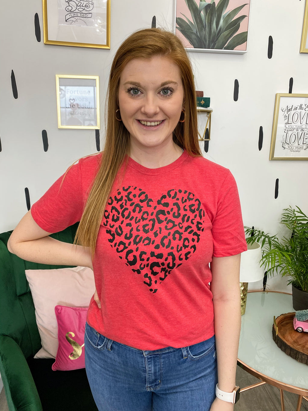 Leopard Heart Graphic Tee
