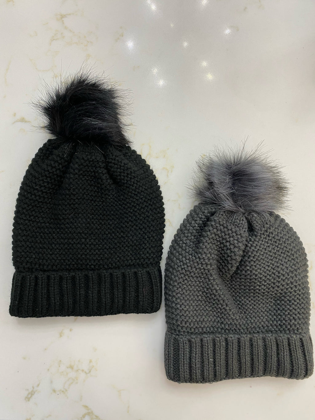 Solid Knit Beanie With Sherpa Lining