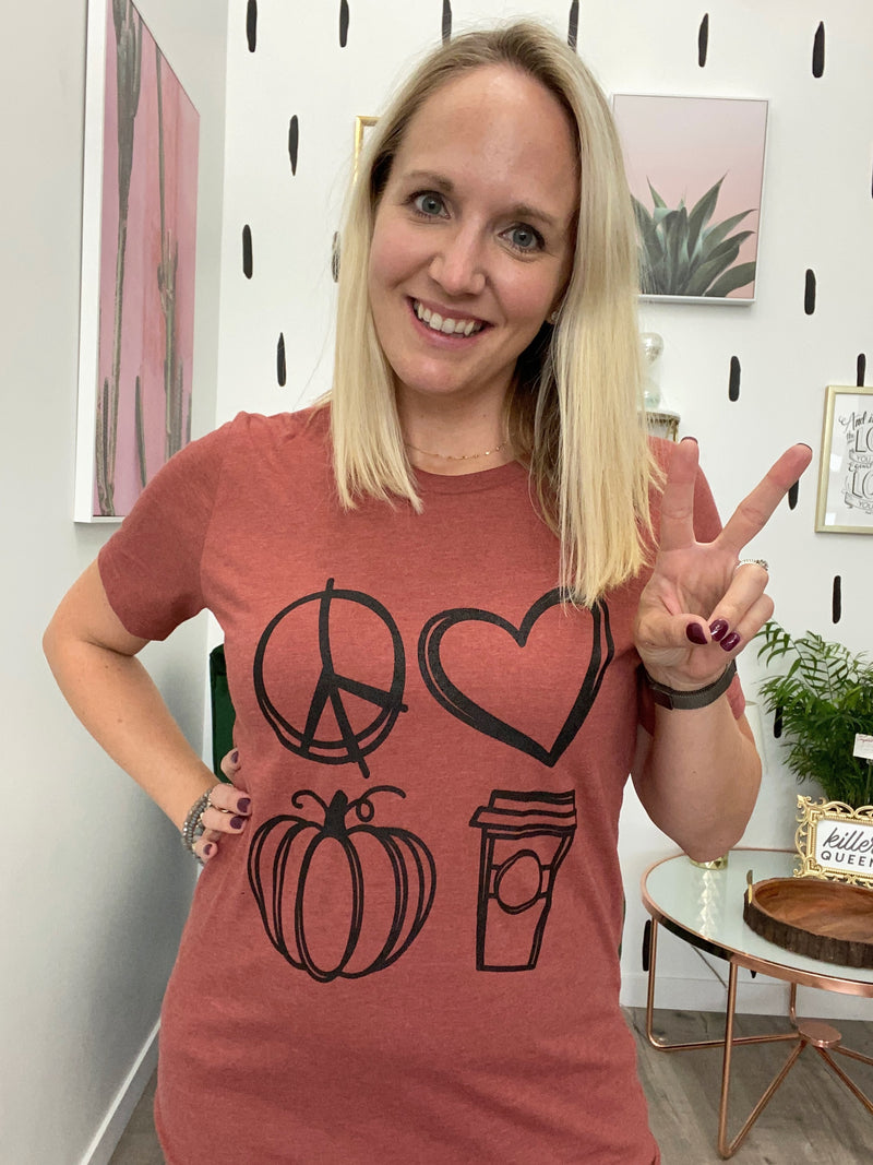 Peace Love & Pumpkin Spice Tee