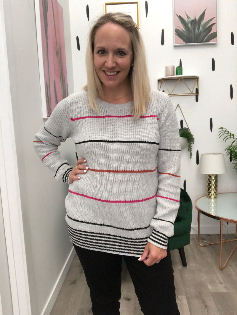 Girl Talk Ribbed Sweater