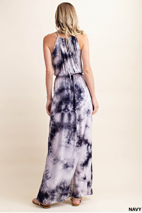 Harper Tie Dye Halter Dress