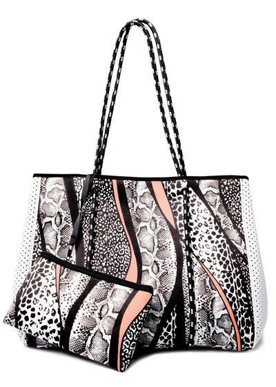 Leoni Neoprene Tote - Mixed Animal
