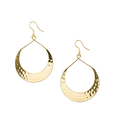 Lunar Earrings - Gold or Silver (Fair Trade)