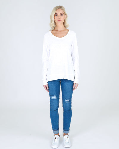 Strumpet Long Sleeve Tee - White