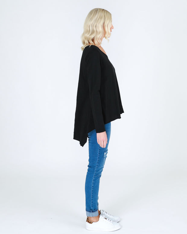 Strumpet Long Sleeve Tee - Black