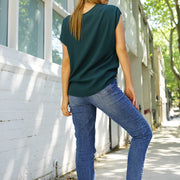 Jane Scoop Top - Emerald