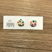 Handmade Clay Earrings - Assorted Colours