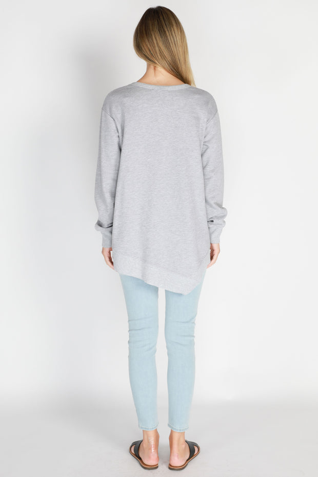 Newhaven Sweater - Grey Marle