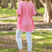 Cisco Frill Top - Pink