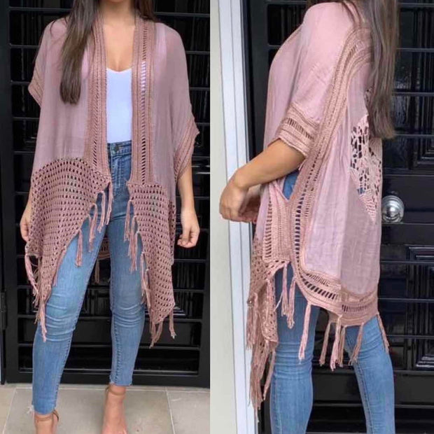 Boho Tassel Cape - Multiple Colours   **40%Discount applied at checkout**