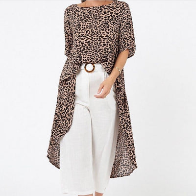 Leopard Drop Back - Mocha