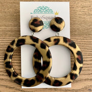 Gem Vintage Leopard Earrings - Gold