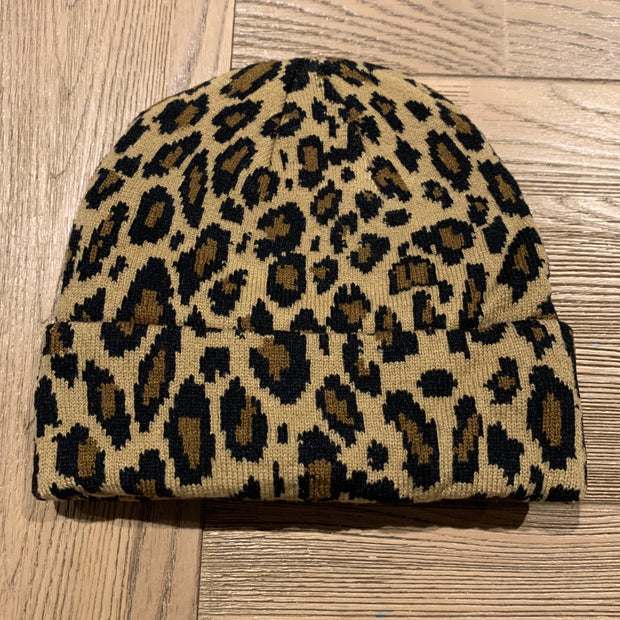 Animal Beanie - Grey Leopard