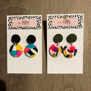 Handmade Medium Drop Earrings - Assorted Colours