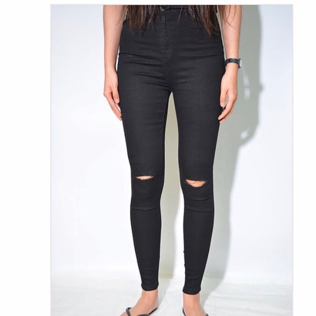 Piper Black Skinny Ripped Jean