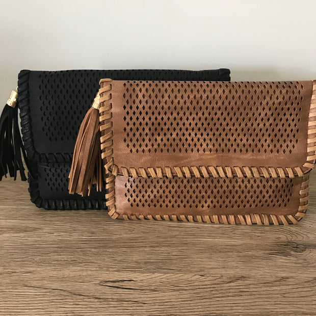Boho Tassel Clutch - Various Colours