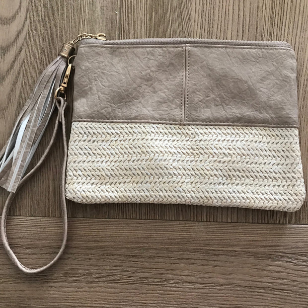 Natural Tassel Clutch - Various Colours