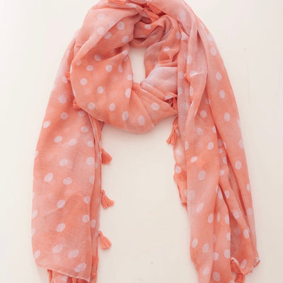 Pink Spot Scarf